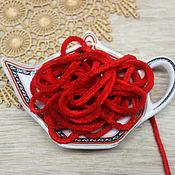 Материалы для творчества handmade. Livemaster - original item Accessories for embroidery: Chenille 5 mm polyester poppies color 1 meter. Handmade.