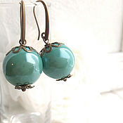 Украшения handmade. Livemaster - original item Earrings Ceramic berry shade Tiffany. Handmade.