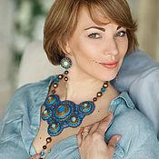 Украшения handmade. Livemaster - original item Necklace and earrings of beads and stones ART. 30475. Handmade.