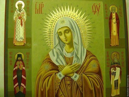 икона для храма с избранными святыми,может быть образом для семейной иконы