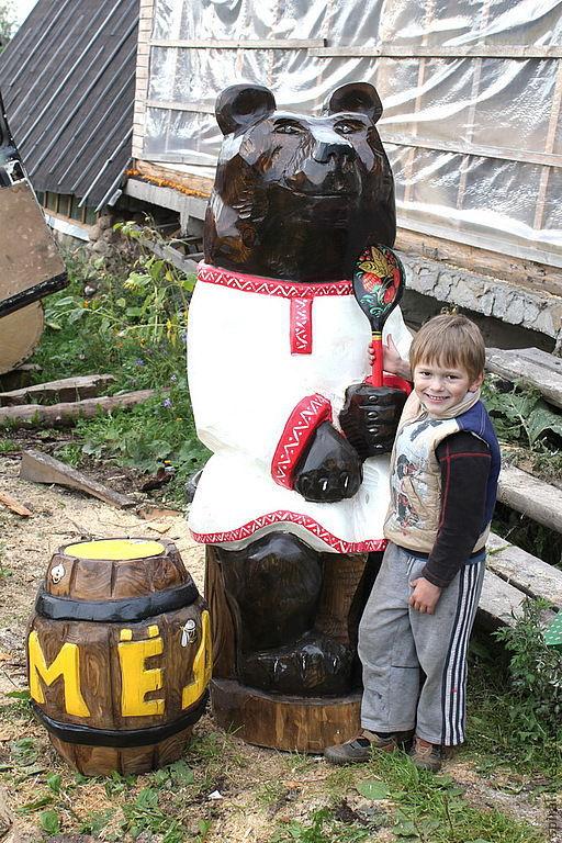 Экстерьер и дача ручной работы. Ярмарка Мастеров - ручная работа. Купить Деревянная скульптура. Handmade. Скульптура, сад, медведь