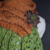 """Аксессуары ручной работы. Ярмарка Мастеров - ручная работа """"Карамель"""" шарф с брошью. Handmade."""