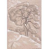 Картины и панно ручной работы. Ярмарка Мастеров - ручная работа рисунок с натуры ,сделано летом 2010года в Новом Свете в Крыму. Handmade.