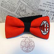 Аксессуары handmade. Livemaster - original item bow tie milan /football/italian football club milan. Handmade.