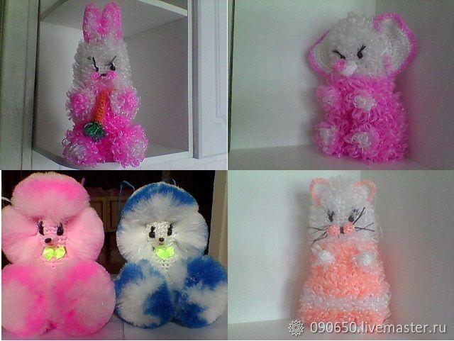 Заяц, слон, кошка, собака, Мягкие игрушки, Балаково,  Фото №1