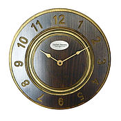Watch handmade. Livemaster - original item A wall clock. Beech. Old gold. Two.. Handmade.