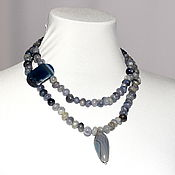 Necklace handmade. Livemaster - original item Necklace natural stone angellite. Handmade.