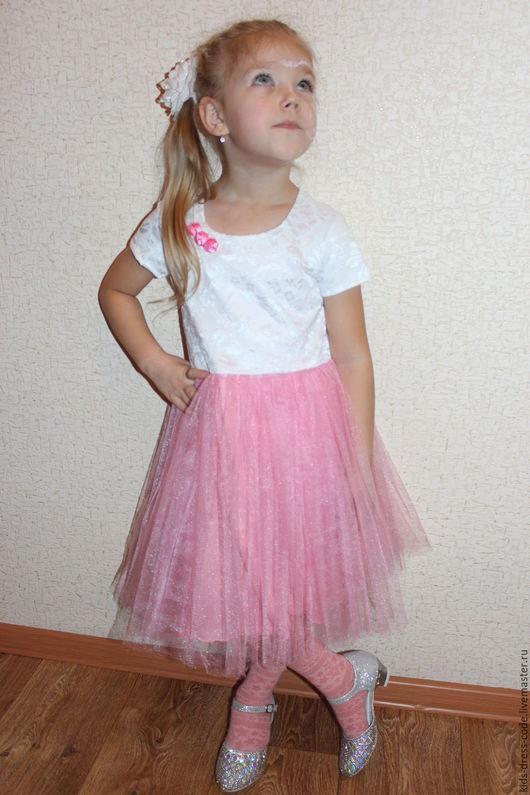 """Одежда для девочек, ручной работы. Ярмарка Мастеров - ручная работа. Купить Платье для девочки нарядное """"Barbie PARTY"""". Handmade. Комбинированный"""
