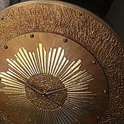 Для дома и интерьера ручной работы. Ярмарка Мастеров - ручная работа Часы настенные Солнце - диаметр 50 см!. Handmade.