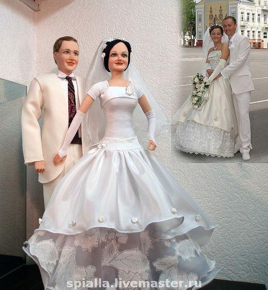"""Подарки на свадьбу ручной работы. Ярмарка Мастеров - ручная работа. Купить Портретные куклы  """"У нас все будет по-другому!"""". Handmade."""
