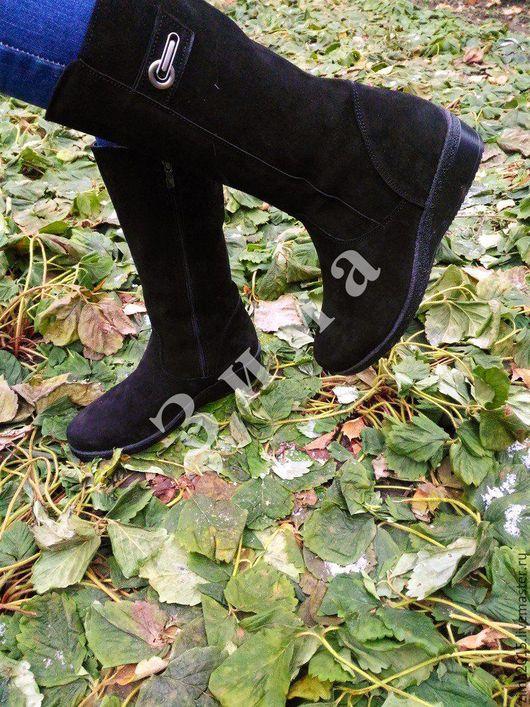 Обувь ручной работы. Ярмарка Мастеров - ручная работа. Купить Сапоги замшевые Модель 1. Handmade. Черный, сапоги