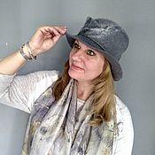 Аксессуары handmade. Livemaster - original item Hats: wool hat Gray haze felted. Handmade.