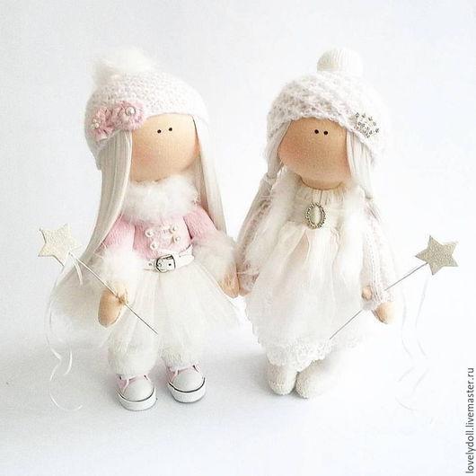 Коллекционные куклы ручной работы. Ярмарка Мастеров - ручная работа. Купить Ангелочек. и Розовая Фея. Handmade. Бледно-розовый