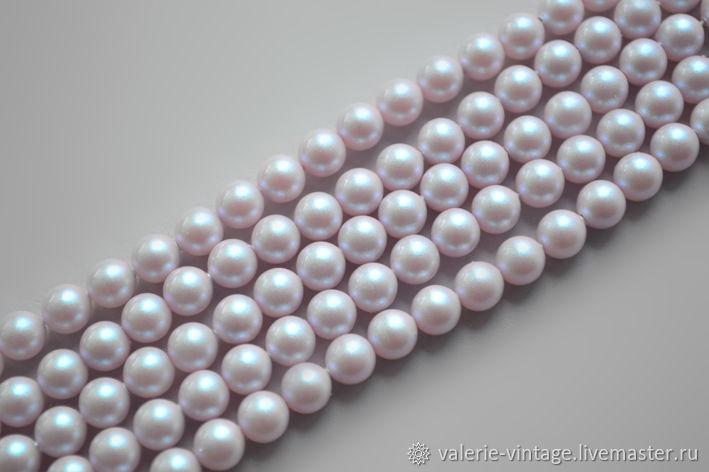 Swarovski pearls 6 mm iridescent Dreamy Rose - 10 PCs, Beads1, Moscow,  Фото №1