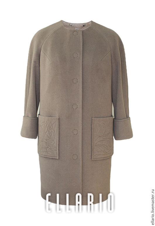 """Верхняя одежда ручной работы. Ярмарка Мастеров - ручная работа. Купить Пальто демисезонное """"Кофе с молоком"""". Handmade. Коричневый"""