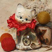 handmade. Livemaster - original item circus kitten (ceramics). Handmade.