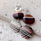 Украшения handmade. Livemaster - original item Earrings with agat. Handmade.