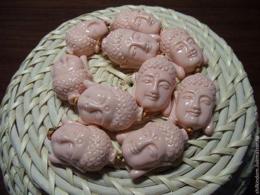 """Для украшений ручной работы. Ярмарка Мастеров - ручная работа. Купить Бусины из пресованного коралла """"Голова"""". Handmade. Кремовый"""