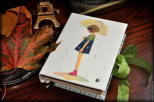 """Блокноты ручной работы. Ярмарка Мастеров - ручная работа. Купить Блокнот ручной работы """"Девушка дождя"""". Handmade. личный дневник"""