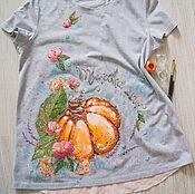 Одежда handmade. Livemaster - original item magic t-shirt, Pumpkin. Handmade.