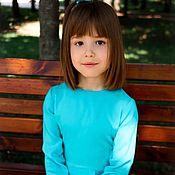 Работы для детей, ручной работы. Ярмарка Мастеров - ручная работа Платье цвета «Тиффани» для девочки 3,4,5,6 лет. Handmade.