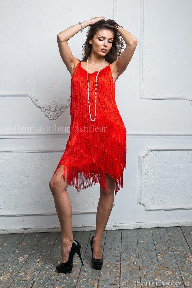 481581e79bf Платья ручной работы. Ярмарка Мастеров - ручная работа. Купить Красное  платье в стиле Гетсби ...