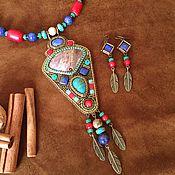 """Украшения ручной работы. Ярмарка Мастеров - ручная работа """"Индейский"""" комплект. Handmade."""