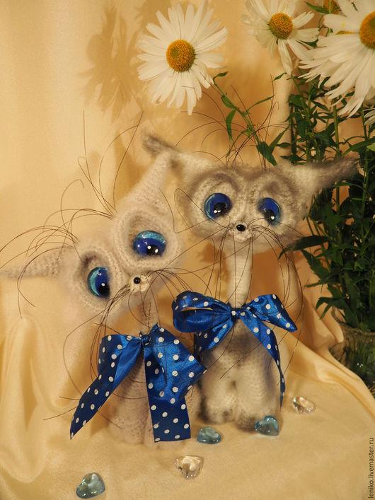 Игрушки животные, ручной работы. Ярмарка Мастеров - ручная работа. Купить Кот сиам. Handmade. Вязаная игрушка, Вязание крючком