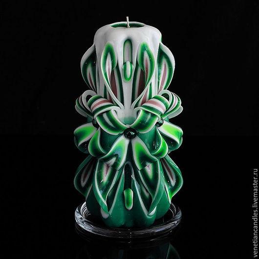 Свечи ручной работы. Ярмарка Мастеров - ручная работа. Купить Резная свеча 321. Handmade. Декоративные свечи, свеча