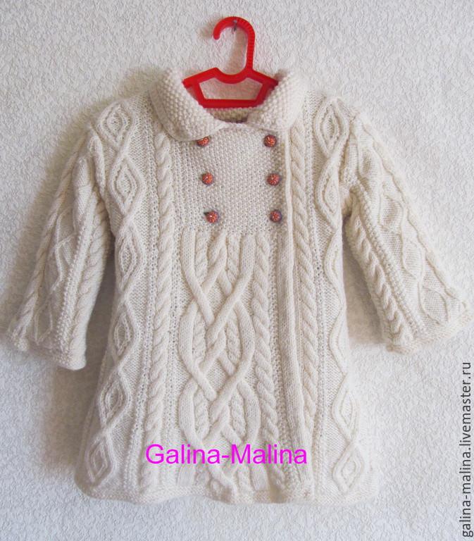 Вязание детского пальто девочек