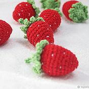 Куклы и игрушки handmade. Livemaster - original item Strawberries in a basket. Handmade.