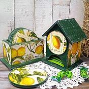 Подставки ручной работы. Ярмарка Мастеров - ручная работа Набор чайный домик с подставками для чашек. Handmade.