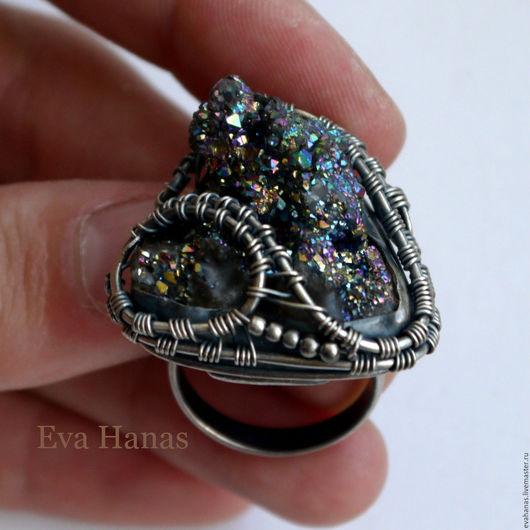 Кольца ручной работы. Ярмарка Мастеров - ручная работа. Купить Серебряное кольцо с халькопиритом. Handmade. Серебряный, купить кольцо из серебра