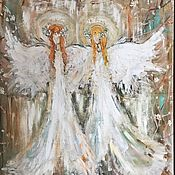 """Картины и панно ручной работы. Ярмарка Мастеров - ручная работа Картина """"Два ангела"""". Handmade."""