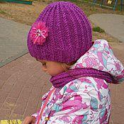 Работы для детей, ручной работы. Ярмарка Мастеров - ручная работа Осенняя шапка и снуд для девочки. Handmade.