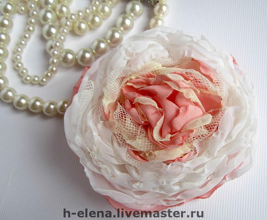 Ярмарка мастеров цветы из ткани мастер класс + видео #10