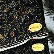 """Канцелярские товары ручной работы. Ярмарка Мастеров - ручная работа Обложки для книг """"Новогоднее настроение"""" обложка на ежедневник. Handmade."""