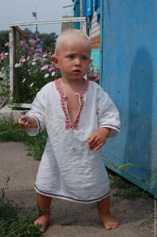 Крестильная рубаха для мальчика. Представлена для примера. Точное повторение не возможно. Р-р  80. отделка декоративной тесьмой. 800руб.