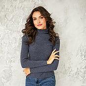 Одежда handmade. Livemaster - original item Turtleneck sweater blueberry. Handmade.