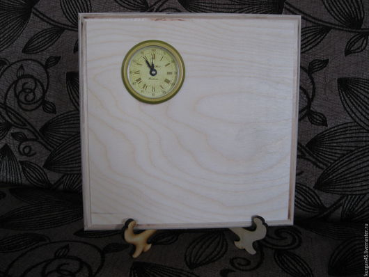 Декупаж и роспись ручной работы. Ярмарка Мастеров - ручная работа. Купить Часы на подставке с капсулой. Handmade. Белый, часы интерьерные