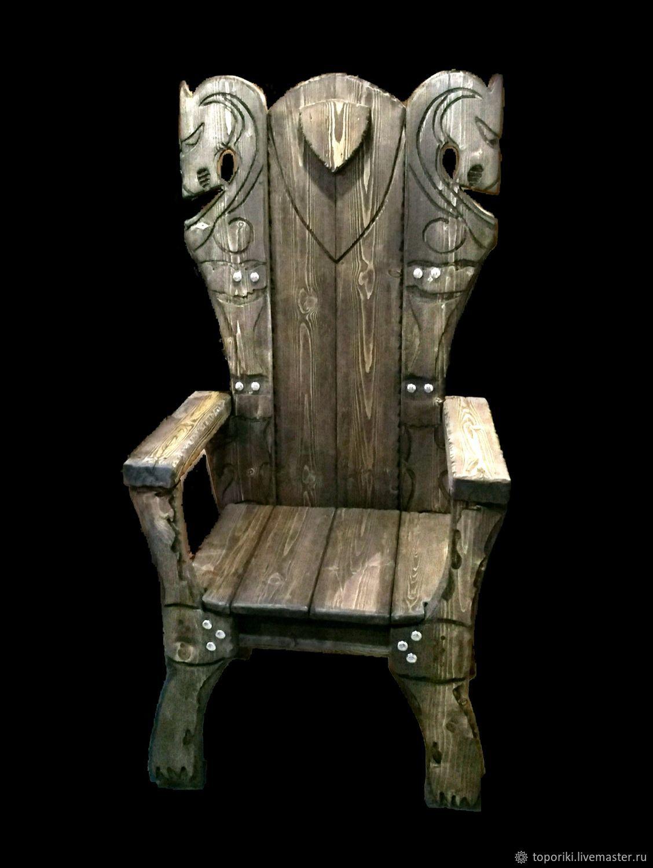 зона скандинавском необычные стул трон из дерева фото есть
