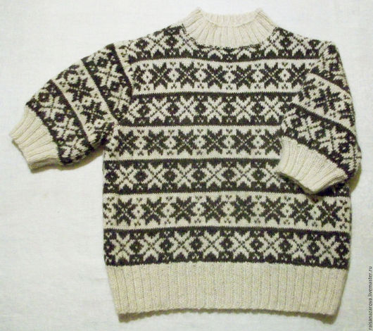 Кофты и свитера ручной работы. Ярмарка Мастеров - ручная работа. Купить Пуховый пуловер с пышными рукавами Норвежские звёзды. Handmade.