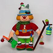 """Куклы и игрушки ручной работы. Ярмарка Мастеров - ручная работа вязаный """"Новогодний клоун"""". Handmade."""