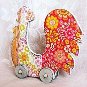Подарки к праздникам ручной работы. Ярмарка Мастеров - ручная работа Петух, символ года, игрушка, интерьерная, дерево, декупаж. Handmade.