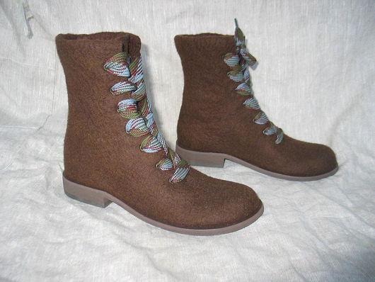 """Обувь ручной работы. Ярмарка Мастеров - ручная работа. Купить Валяные ботинки """"STILLISSIMO-2"""". Handmade. Валенки, валяная обувь"""