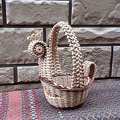 Для дома и интерьера ручной работы. Ярмарка Мастеров - ручная работа Корзинка курочка плетёная. Handmade.