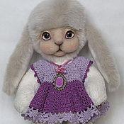 Куклы и игрушки handmade. Livemaster - original item Bunny Teddy Violet. Handmade.