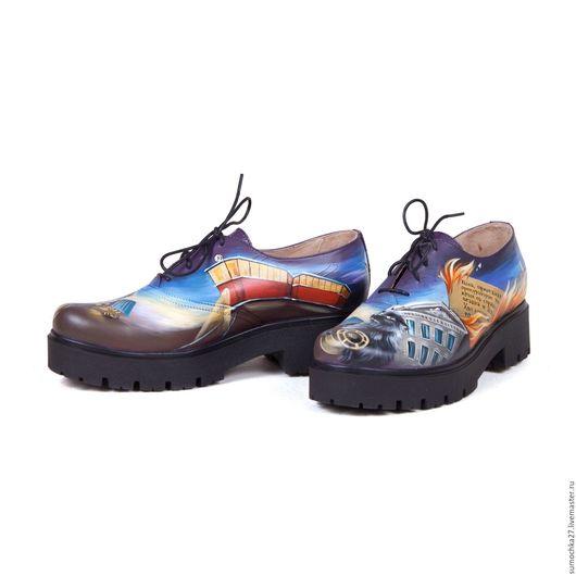"""Обувь ручной работы. Ярмарка Мастеров - ручная работа. Купить Ботинки """"Мастер и Маргарита"""". Handmade. Комбинированный, ручная работа"""