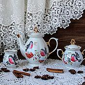 Посуда handmade. Livemaster - original item Tea set painted