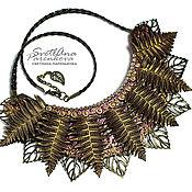 Украшения handmade. Livemaster - original item Necklace polymer clay mystery of the ferns (281). Handmade.